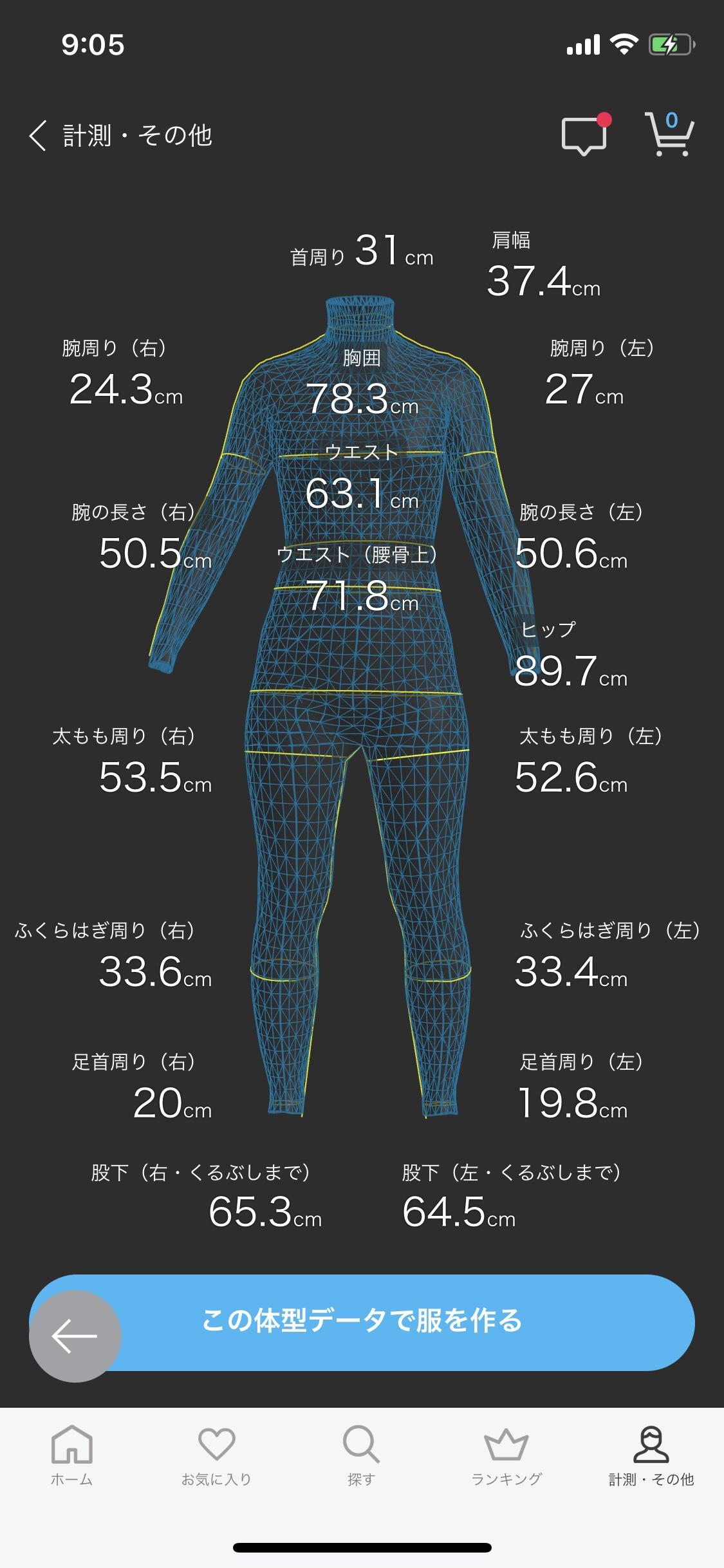 話題のZOZOスーツで体型を計測、ババァの現実を突きつけられる